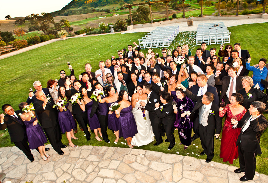 big group photo in los laChance winery wedding by This is it Photographers