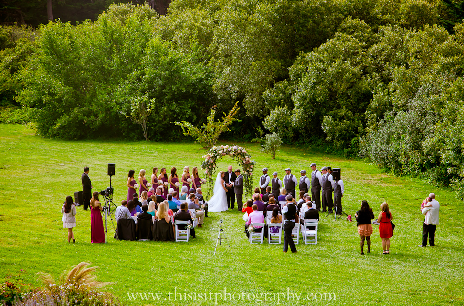 beautiful venue Half moon bay Wedding photographer