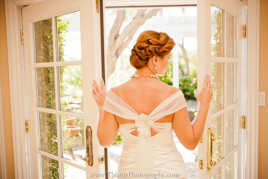 solo bride photo in Leal Vineyards by This is it Photography