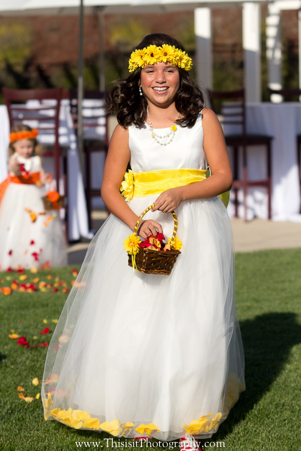 Hollister weddings flower girls photo