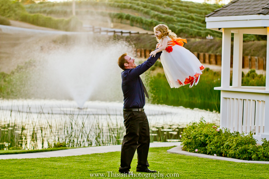 father and daughter enjoying leal wedding photography
