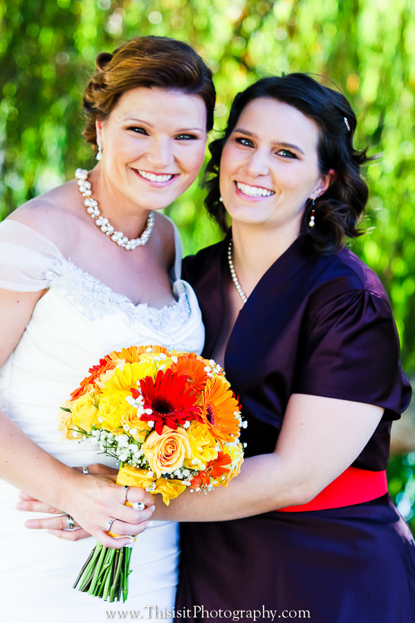 bride with sister wedding photo by this is it hollister wedding