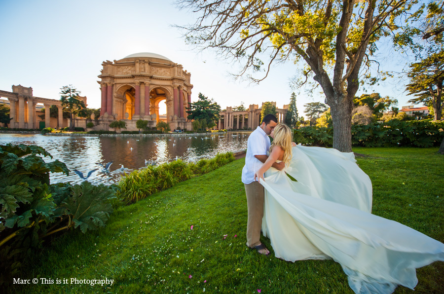 Affordable palace of fine arts wedding photographer