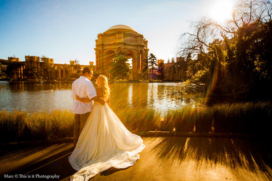 bride and groom palace of fine arts wedding photographer
