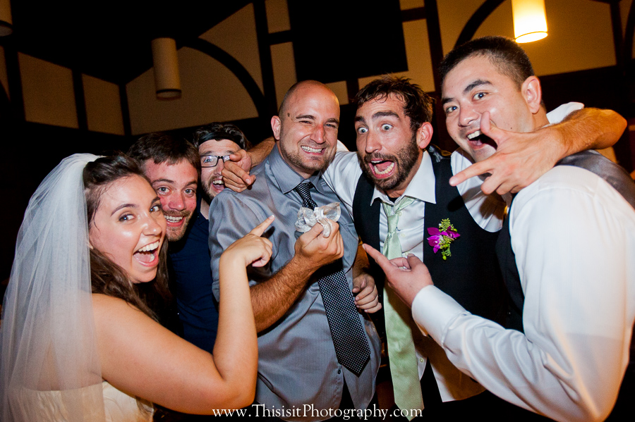 garter toss wedding photo by this is it photography los gatos wedding