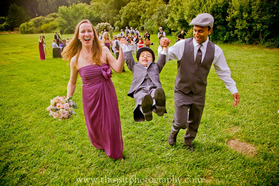 bridal party photos with kids