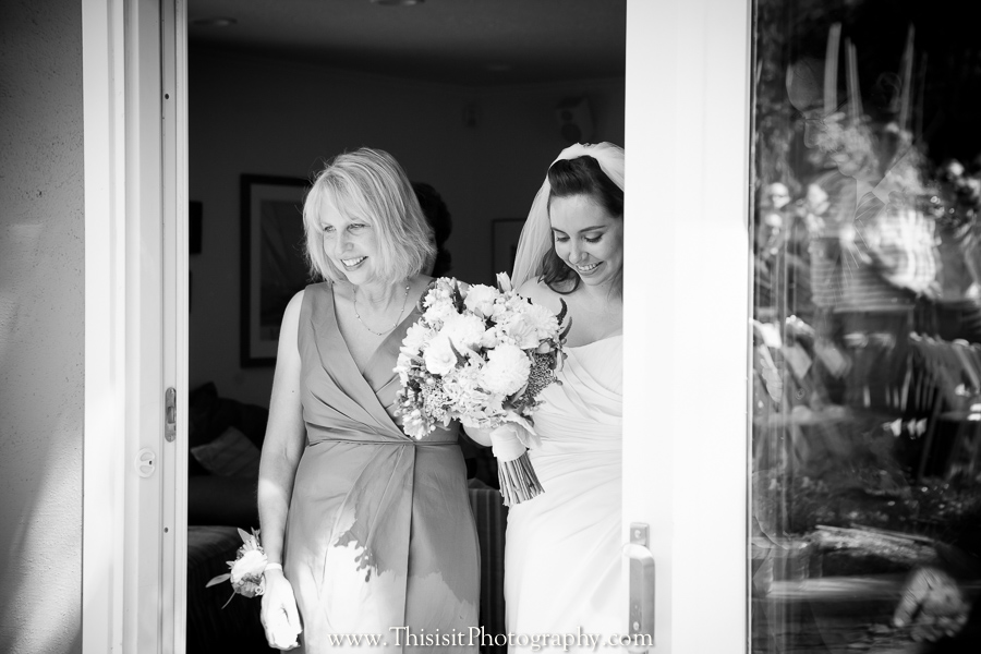 Bride and her mother photo by saratoga wedding photographer