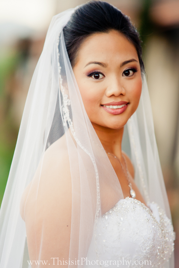 portraits of the bride by pleasanton wedding photographer