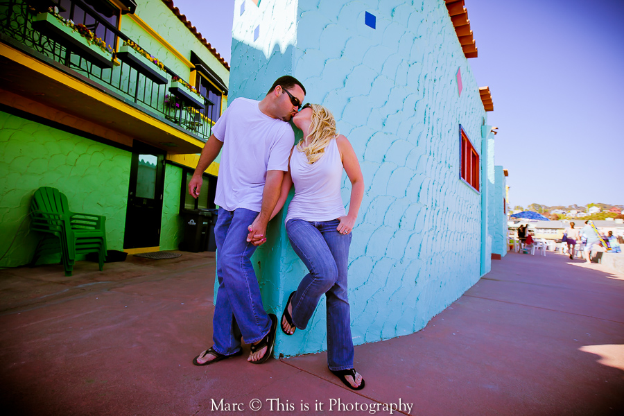 colorful, affordable and fun engagement session