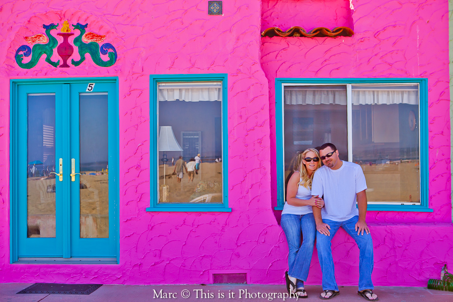 colorful engagement capitola photo by this is it photography